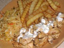 Gyros z kurczaka z sosem czosnkowym