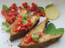 Halibut z pomidorowa salsą