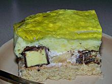 Hawajskie ciasto z ptasim mleczkiem i ananasem