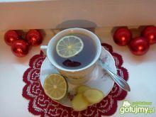 Herbata z miodem, imbirem i limonką