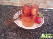 herbata z truskawkami :)