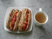 Hot dog wegetariański