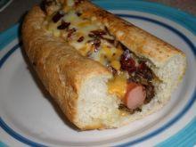 Hot dog z boczkiem