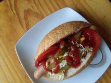 Hot dogi z warzywami