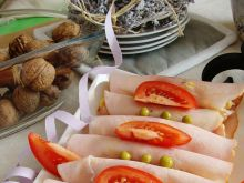 Imprezowe roladki z szynki