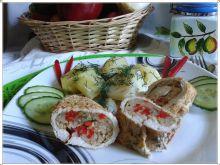 Indyk w papilotach z warzywami
