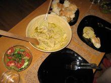indyk w sosie serowym