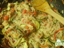 Indyk z warzywami na słodko -ostro
