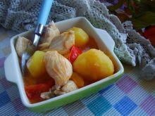 Indyk z ziemniakami z patelni