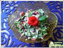 Insalatina z czerwoną fasolą do obiadu