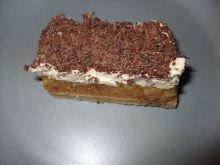 Jabłecznik z kremem i czekoladą