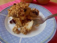 Jabłka pod otrębowo miodową kruszonką