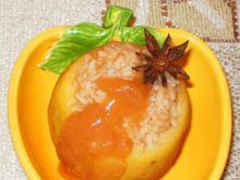 Jabłko gotowane na parze z ryżem