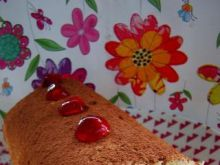 Jabłkowa rolada biszkoptowa
