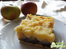 Jabłkowo- makowe ciasto z budyniem