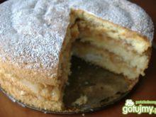 Jabłkowy biszkopt a'la tort