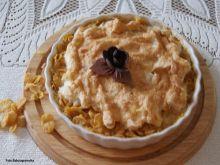 Jabłkowy pudding z corn flakes