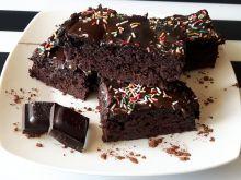 Jaglane ciasto brownie