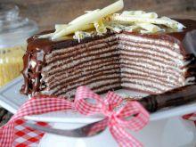 Jaglano- czekoladowy tort naleśnikowy
