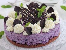 Jagodowa pianka torcik