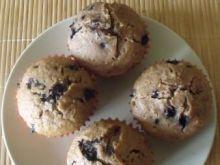 Jagodowe muffiny z płatkami owsianymi