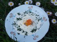 Jaja sadzone w śmietanie