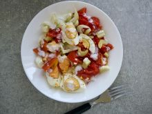 Jaja w sosie kefirowo chrzanowym