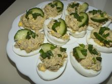 Jaja z pieczarkowym farszem