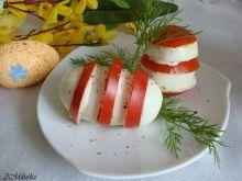 Jajeczna biało czerwona zebra