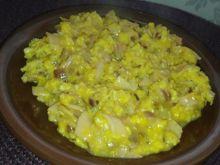 Jajecznica na śniadanie zrobiona przez mojego męża