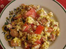 Jajecznica na parówce