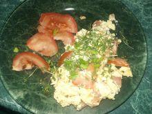 Jajecznica pomidorowa na parze