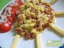 Jajecznica serowa