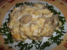 Jajecznica z filetem z mintaja