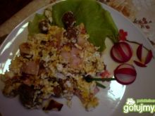 Jajecznica z grzankami wg TheKajtex