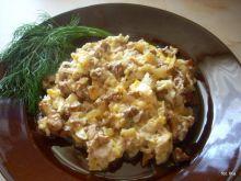 Jajecznica z kurkami na maśle