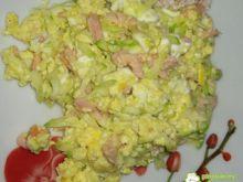 Jajecznica z łososiem