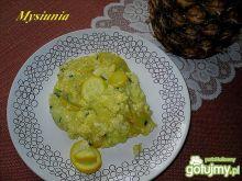 Jajecznica z żółtą cukinią