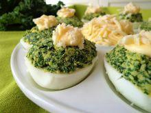 Jajka faszerowane jarmużem