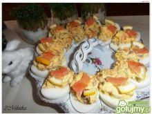 Jajka faszerowane łososiem 4