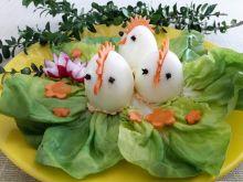 Jajka faszerowane marchewką