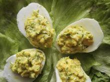 Jajka faszerowane pastą curry z koperkiem
