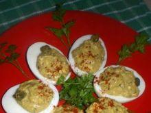 Jajka faszerowane pesto z kaparami