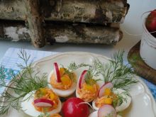 Jajka faszerowane pieczoną papryką