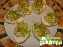 Jajka faszerowane porem 2