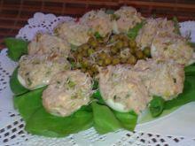 Jajka faszerowane tuńczykiem z porem
