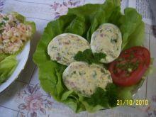 Jajka faszerowane wędliną