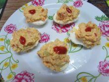 Jajka faszerowane mielonym  mięsem