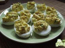 Jajka faszerowane  z szynką i pietruszką