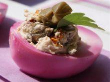 Marmurkowe jajka nadziewane pastą